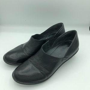 Dansko Black Leather Heel Pump Shoes